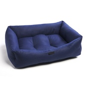 Pet Pooch Boutique - Navy Birdseye Dog Bed