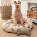 Grouse Linen Donut Bed 6