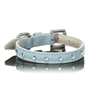 Light Blue Swarovski Dog Collar