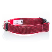 Pet Pooch Boutique - Red Tweed Collar