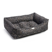 Pet Pooch Boutique - Pewter Flock Dog Bed