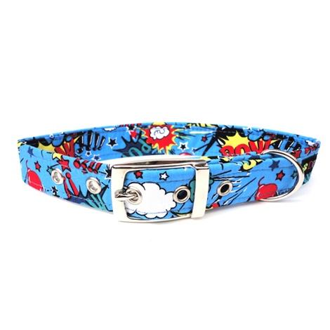 Superhero Buckle Dog Collar