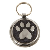 Tagiffany - Shimmer Black Glint Paw Pet ID Tag