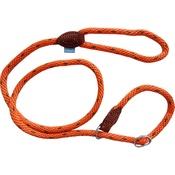 Hem & Boo - Soft Touch Rope Slip Dog Lead - Orange