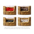 Natural Oval Rattan Dog Basket 5