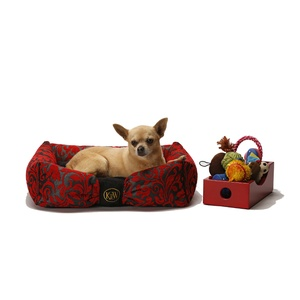 Attraction Dog Bed - Ruby Red Chenille