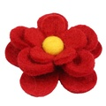 Bloom Dog Collar Flower Accessory - Crimson & Yellow 3