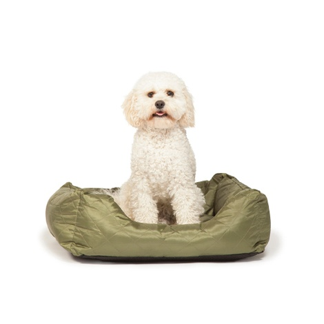 Quilted Snuggle Dog Bed – Green 2