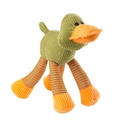 Quacking Duck Corduroy Dog Toy
