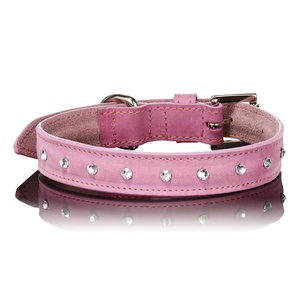 Light Pink Swarovski Dog Collar