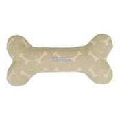 Mutts & Hounds - Sage Bone Linen Squeaky Bone Toy