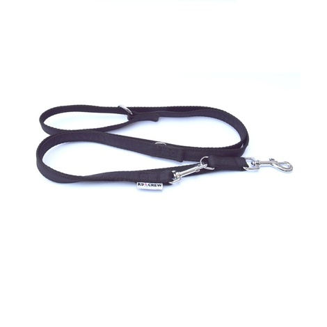 K9CREW Black Adjustable Lead