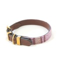 The Cromwell Pink Shetland Wool Dog Collar 2