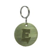 The Pet Jeweller - Alphabet Dog ID Tag - Plain brass on plain brass