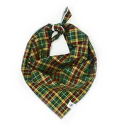 Pet Pooch Boutique - Green Tartan Traditional Bandana