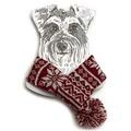 Snowflake Dog Scarf  2