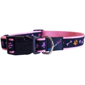Hem & Boo - Pink Paws & Bones Dog Collar