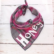 Pet Pooch Boutique - Personalised Pink Tartan Dog Bandana