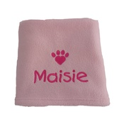 My Posh Paws - Personalised Valentine Pet Blanket - Pink