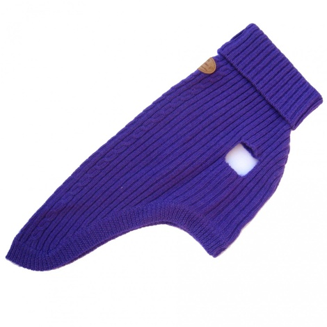Purple Cable Knit Jumper 3