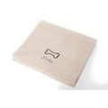 Personalised Cream Bone Dog Blanket - Classic font