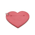 Leather Heart Poo Bag Pouch - Red 3