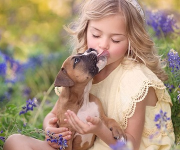 10 reasons why puppies are good for children
