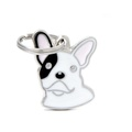 French Bulldog Engraved ID Tag – White