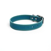 The Leather Dog Co - Blue Leather Dog Collar