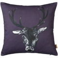 Stag Cushion in Plum