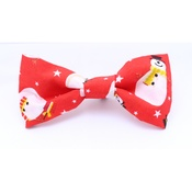 Pet Pooch Boutique - Red Snowman Bow Tie