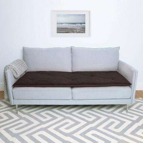 Plush Velvet Sofa Topper - Mole
