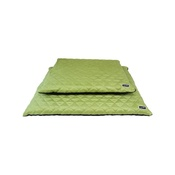 Hem & Boo - Quilted Flat Dog Bed - Black & Green