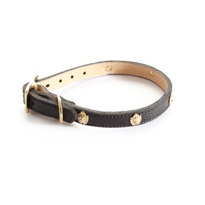 Woof Leather Dog Collar - Black