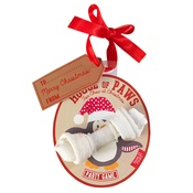 House of Paws - Penguin Rawhide Bone Christmas Bauble