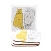 New House Textiles - Meow Coasters
