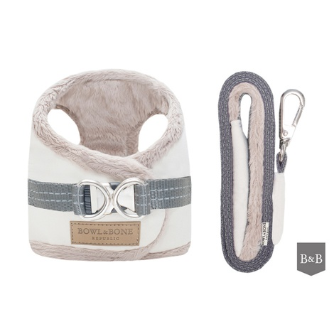 Yeti Dog Harness & Lead Set - Cream