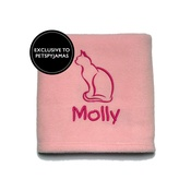 My Posh Paws - Personalised Cat Blanket - Pink