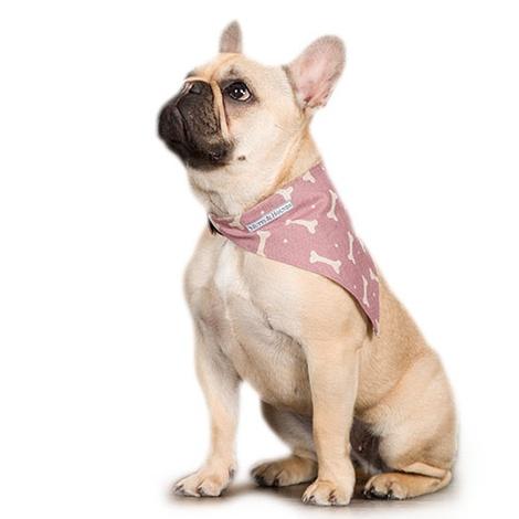 Heather Bone Linen Dog Neckerchief