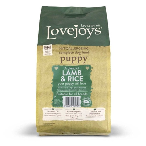 Lovejoys Puppy Lamb & Rice Dry Dog Food 15kg
