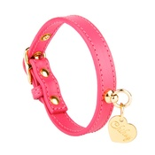 Chihuy - Pink and Gold Leather Collar