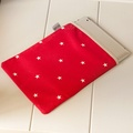 Cranberry Star Cotton with Red Ticking Ipad Case 2