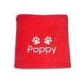 Personalised Santa Paws Blanket – Red