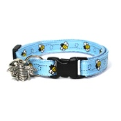 Mog's Togs - Blue Bumblebees Safety Cat Collar