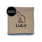 My Posh Paws - Personalised Cat Blanket - Biscuit