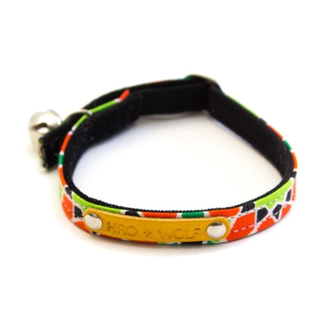Mosaic Black Cat Collar 2