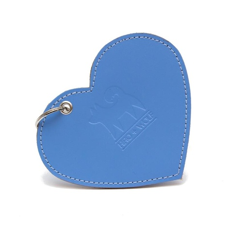 Leather Heart Poo Pouch – Botanical Blue