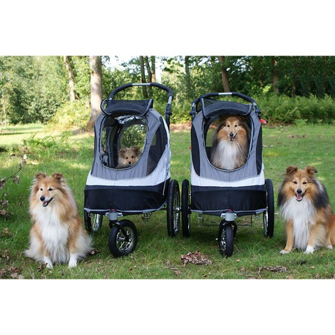 Black/Grey Sporty Dog Trailer Deluxe 4