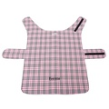 Personalised Pink Check Dog Coat 3
