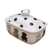 Laura Lee Designs - Dogs Butterdish
